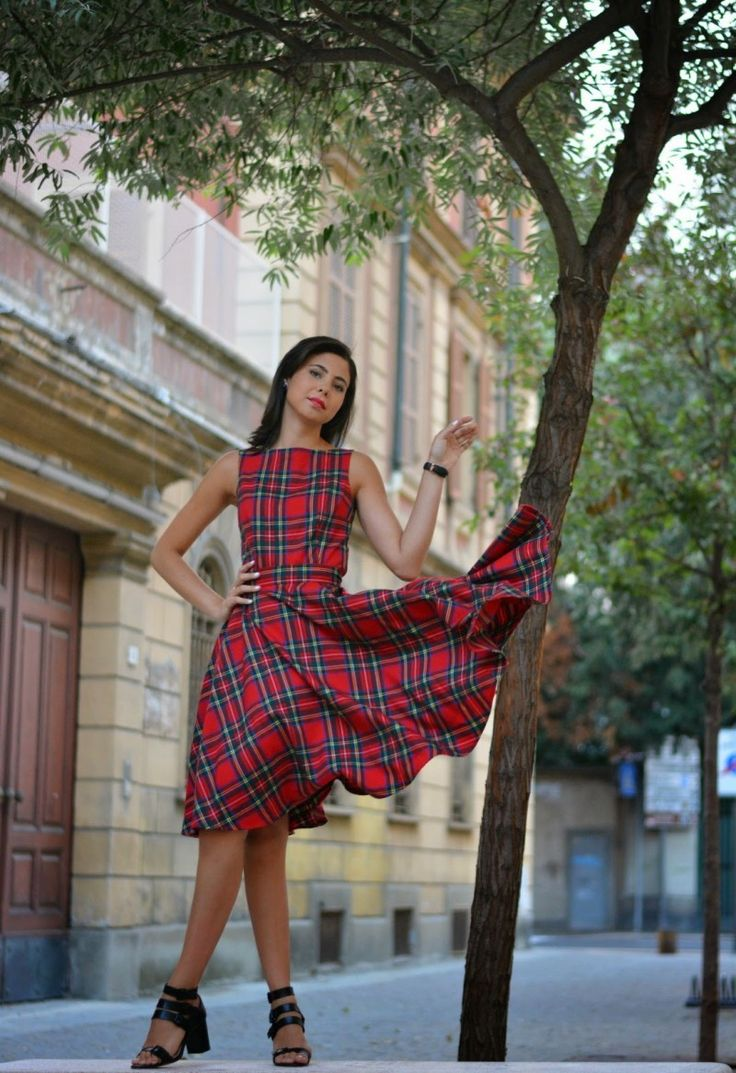 Red Tartan #Dress by Juliane Borges on @sbaam http://sba.am/98kmupjp0iu