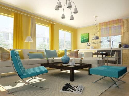Cores vibrantes de 2012 para decorar sua casa.  Azul-piscina