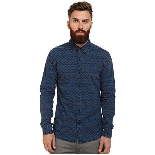 (スコッチアンドソーダ) Scotch & Soda メンズ トップス 長袖シャツ Radio Blauw Allover Printed Shirt 並行輸入品  新品【取り寄せ商品のため、お届けまでに2週間前後かかります。】 カラー:Indigo 商品番号:ol-8618287-421