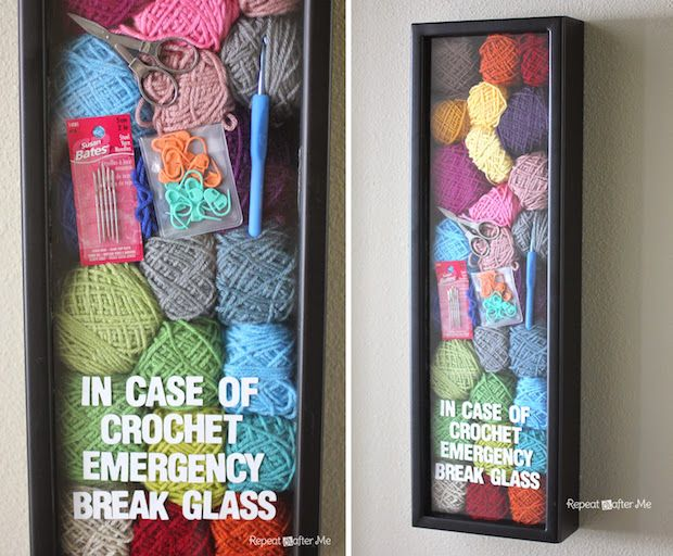 Looking for a cute decorative project to brighten up your craft room walls? If you're a yarn crafter, this crochet emergency wall art tutorial is sure to bring a smile to your face while you're wor...
