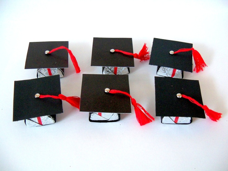 Graduation hat party favor to place Hershey nugget in (set of 6)