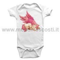 Body Bambino Baby Unicorno Rosa