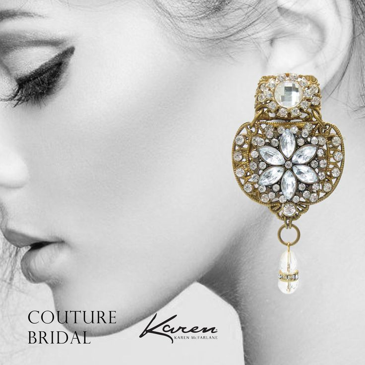 Couture Bridal Earrings (#1090e) by Karen McFarlane