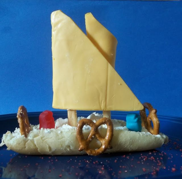 Edible Crafts For Kids To Make Part - 27: Kitchen Kids: Edible Mayflower Sandwich Snack For Thanksgiving Craft