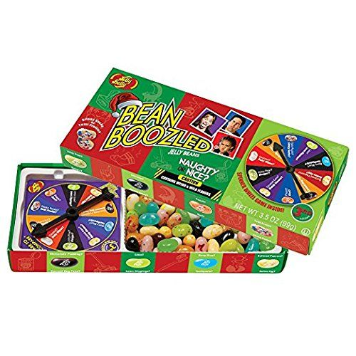 "Bean Boozled Naughty Or Nice Jelly Belly Spinner Jelly Bean 3.5oz Gift Box Includes 2 Beanboozled Spinner Game Gift Boxes Ten ""nice"" jelly beans are matched with ten identical ""naughty"" candies in this clever gift box. Great fun for family and friends https://food.boutiquecloset.com/product/bean-boozled-naughty-or-nice-jelly-belly-spinner-jelly-bean-3-5oz-gift-box/"
