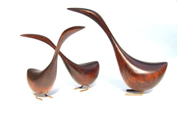 Vintage Mid Century Danish Modern Teak Birds on Etsy, $299.99
