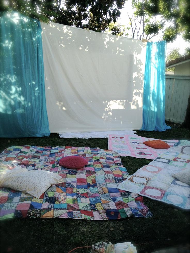 Backyard Movie Night Ideas outdoor movie night Sweet Sixteen Backyard Movie Night Now If Only My Birthday Wasnt