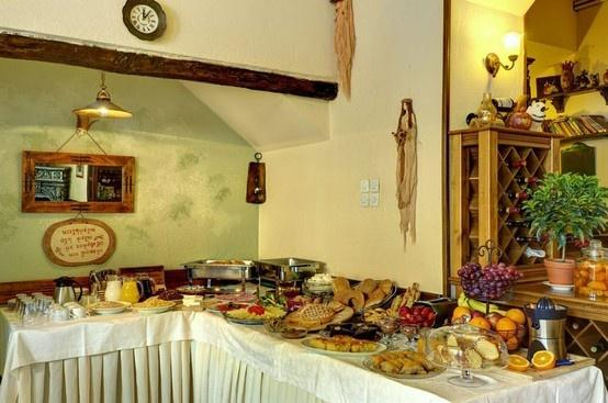 Greek Breakfast at Hotel Kritsa Portaria Village Pelion,Greece