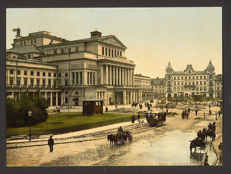 Grand theatre, Warsaw, Poland. 1900. Source: U.S. Library of Congress.