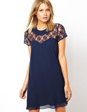 Love Swing Dress With Lace Yoke