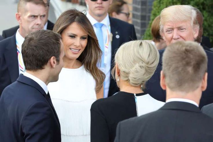 Emmanuel Macron et sa femme, accompagnés de Donald et Mélania Trump à l'Elbphilharmonie de Hamburg e... - Ludovic Marin/Pool/Bestimage