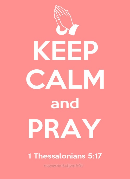 1 Thessalonians 5:17 :)