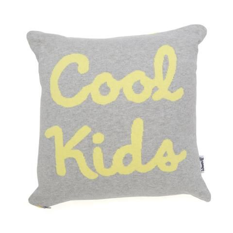 Cushion . Knitted / Reversible - Cool Kids / Grey & Yellow - This Modern Life