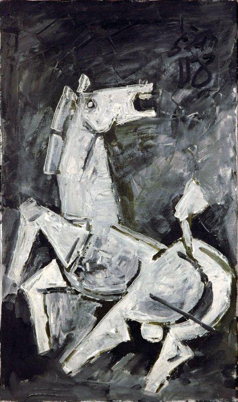 Maqbool Fida Husain (b. 1915):HORSE
