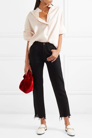 3x1 - W3 Higher Ground Cropped High-rise Straight-leg Jeans - Black