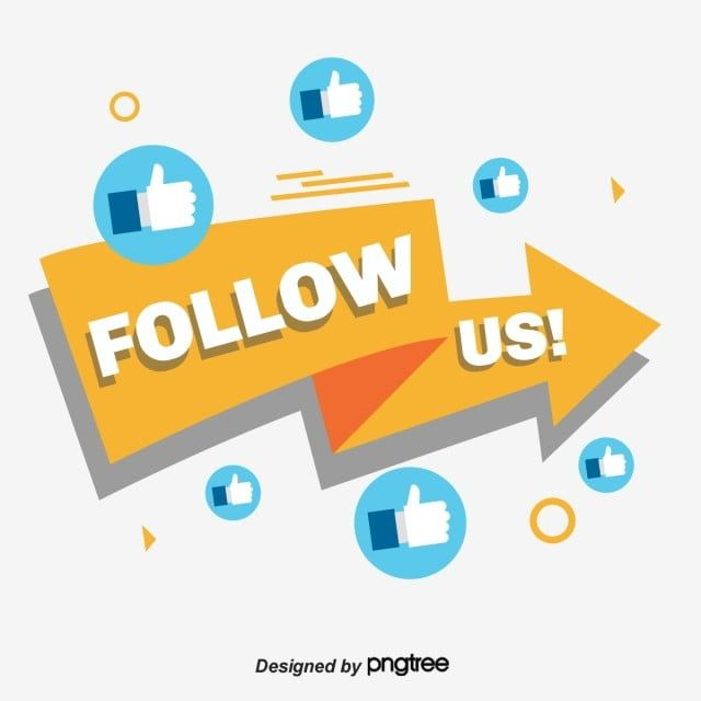 The Yellow Arrow Points The Follow Us Tag Arrow Clipart Follow Us Geometric Png And Vector With Transparent Background For Free Download Kids Background Geometric Vector Geometric