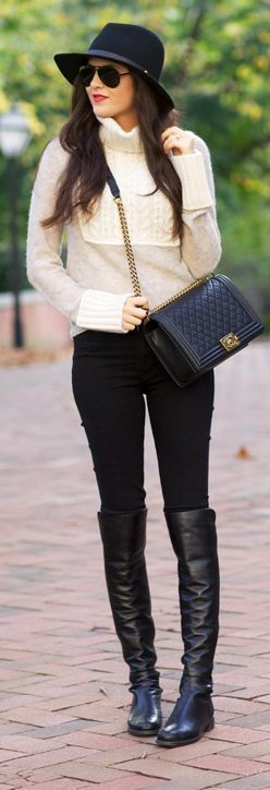 Fall Time Outfit Idea - Pink Peonies