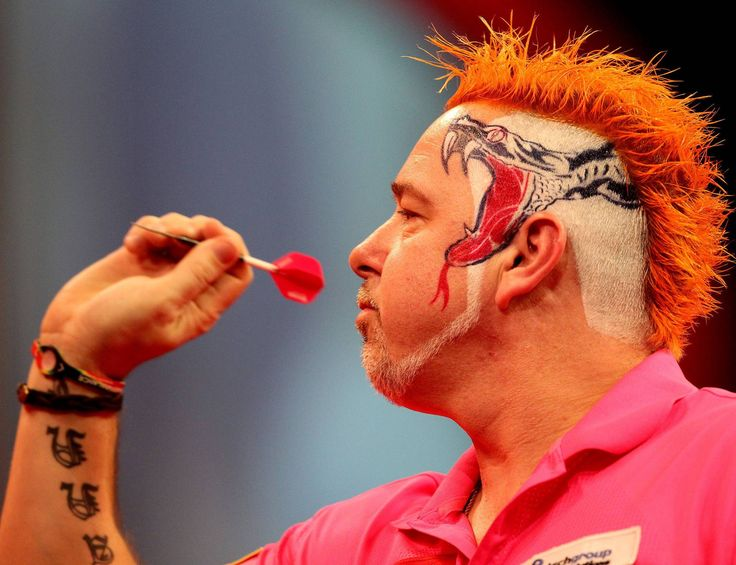 Famous DARTS player Peter Wright during competition