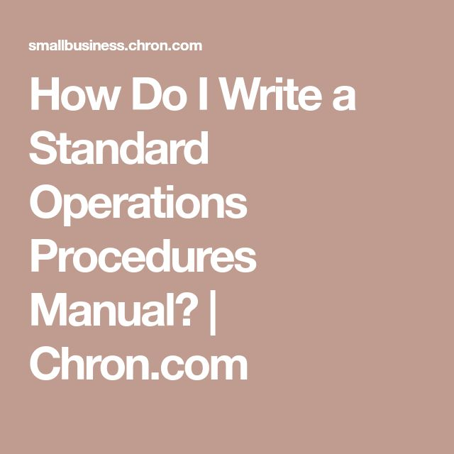 Best 25+ Standard operating procedures manual ideas on Pinterest - how to write a standard operating procedure