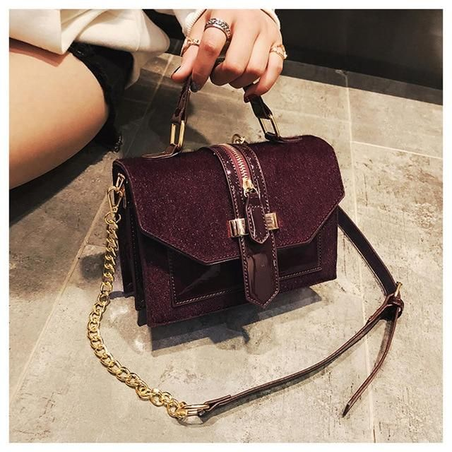 Soft Shoulder Bag Autumn Leaves Cartoon Style Pattern Custom Handle Purses Pu Leather Rivet Portable Fashion Printing Waterproof With Zipper Men Crossbody Messenger Bag