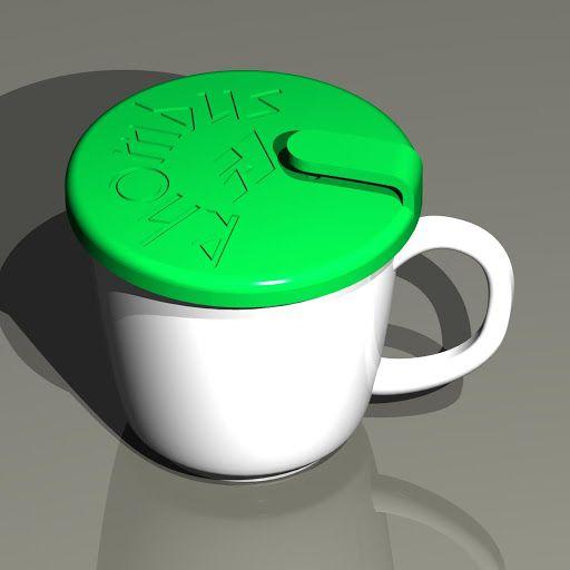 マグカップキャップ ( 3Dプリントプロダクト「Rhombus Mag Cap」の商品詳細 )