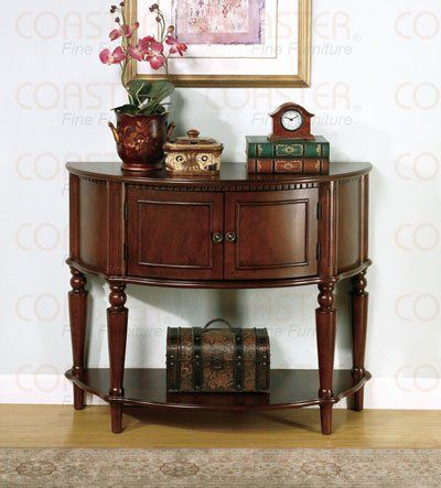COASTER STORAGE ENTRY WAY CONSOLE TABLE/HALL TABLE, BROWN FINISH  - Click image twice for more info - See a larger selection of living room  tables at  http://zcoffeetables.com/product-category/living-room-tables/- home, home decor, home ideas, living room, furniture, table ,gift ideas