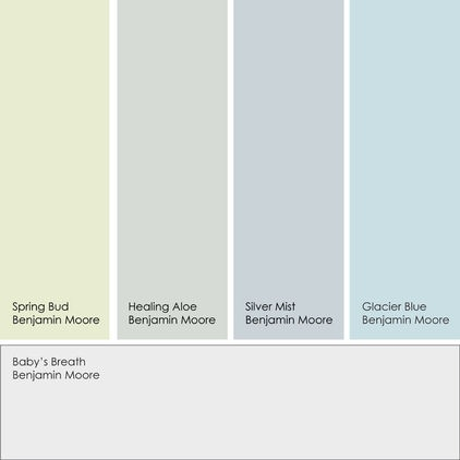 Benjamin moore paint colors spring bud healing aloe for Silver mist paint color