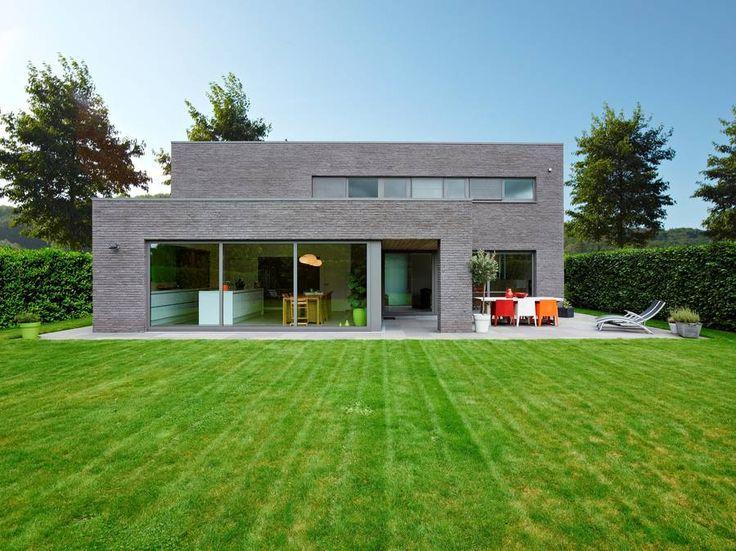 Realisatie hertsberge alleenstaande moderne woning archi d co pinterest ext rieur - Huis deco exterieur ...