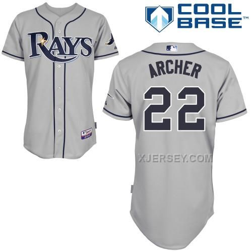 http://www.xjersey.com/rays-22-archer-grey-cool-base-jerseys.html RAYS 22 ARCHER GREY COOL BASE JERSEYS Only $43.00 , Free Shipping!
