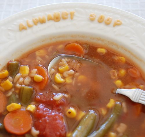 Alphabet Soup .. This recipe is very quick and easy as it. I sometimes ...