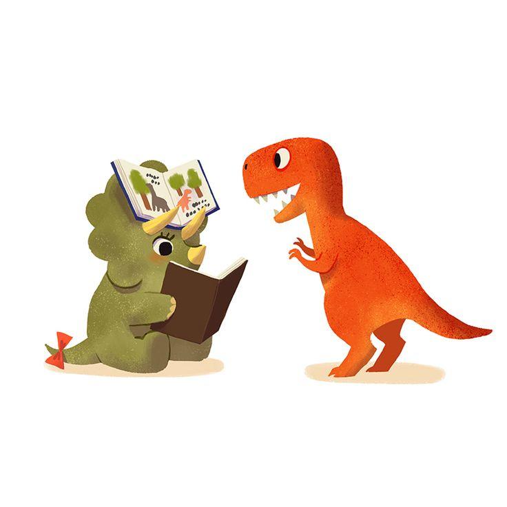 Book dinosaurs 04 framed art print by bonnie vector