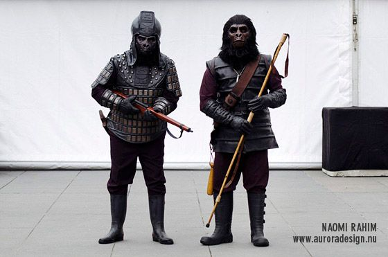 Planet of the Apes #cosplay at #OzComicCon 2014 in #Melbourne. More photos: http://auroradesign.nu/blog/2014/07/comic-con-melbourne/   #planetoftheapes #comiccon #cosplayers