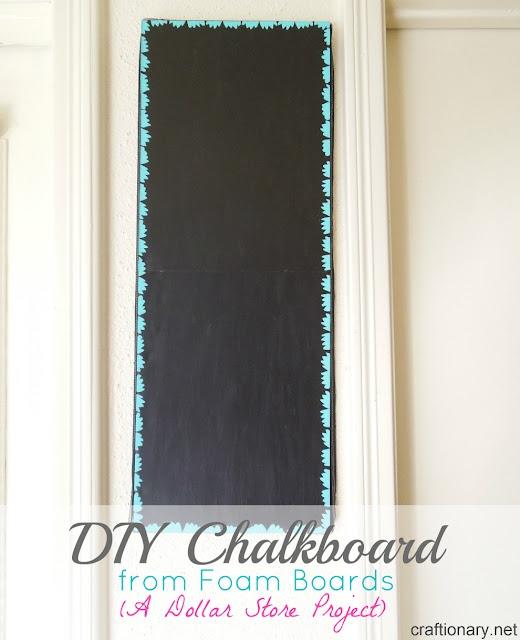 Diy Chalkboard Tutorial Using Foam Boards