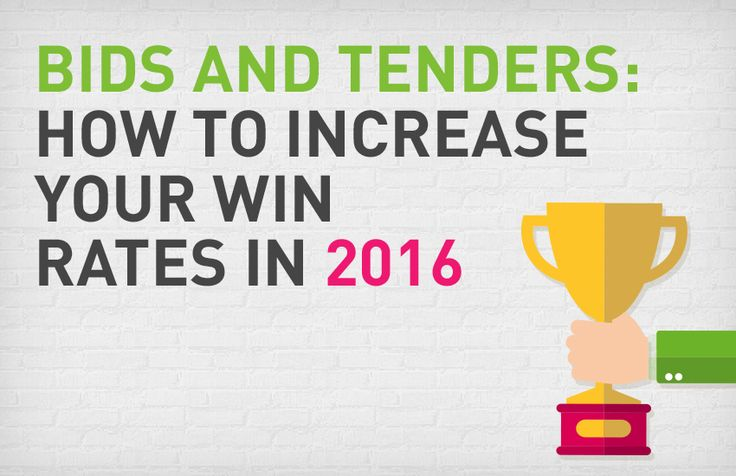 Bids and tenders: How to increase your win rates in 2016