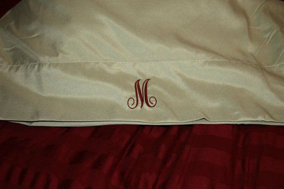 1,800 Thread Count Micro-Fiber Sheet Sets Personalized with Embroidered Initial or Monogram, from $40 for a complete set!!!