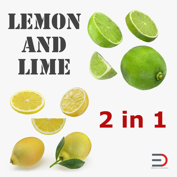 3D Lemon and Lime Collection