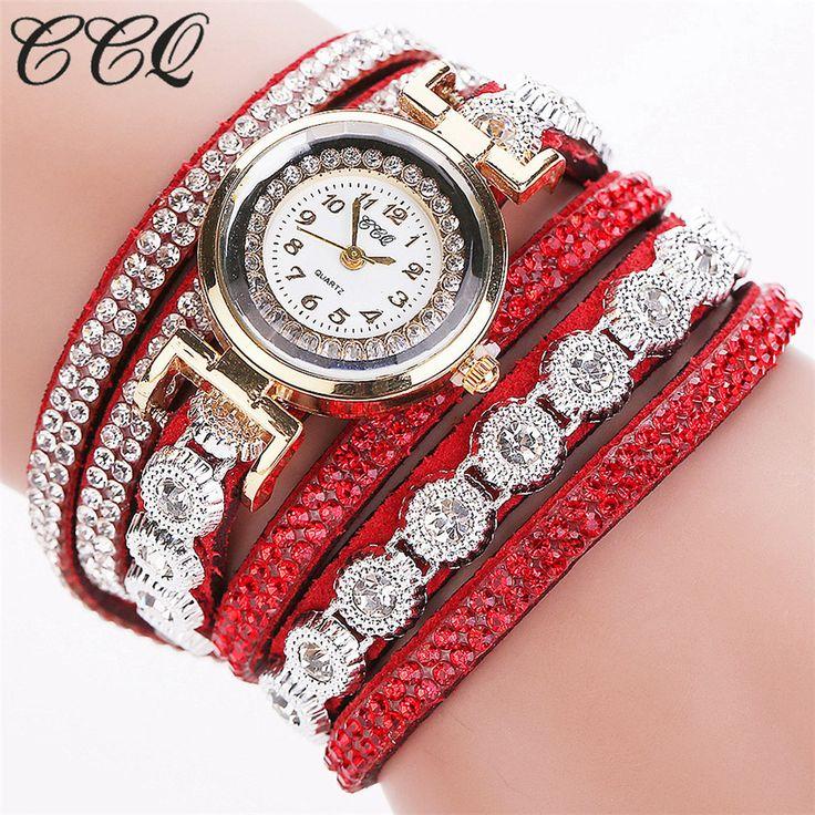 CCQ Brand Fashion Luxury Rhinestone Bracelet Watch Ladies Quartz Watch Casual Women Wristwatch Relogio Feminino C43  www.venmo.com/Daniel-Daily