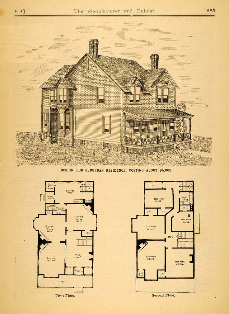 vintage Victorian House Plans | ... Victorian Architecture House Design Augustus Howe Floor Plans Home