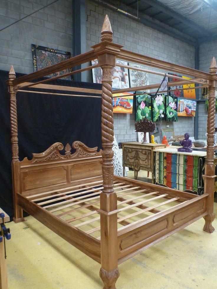 Teak Wood Queen Size Bed