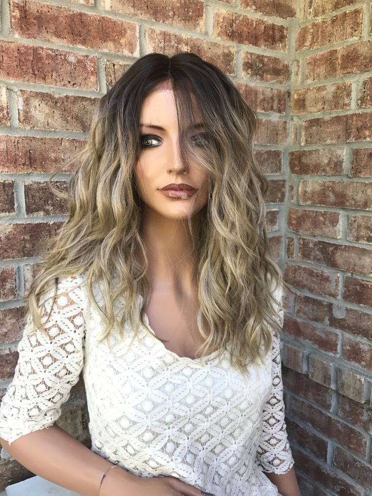 "White Ash Blonde Balayage Lace front wig 14"" 5171"