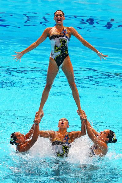 Mexico compete during the Synchronized Swimming Free Combination Final on day eight of the 15th FINA World Championships at Palau Sant Jordi on July 27, 2013 in Barcelona, Spain.