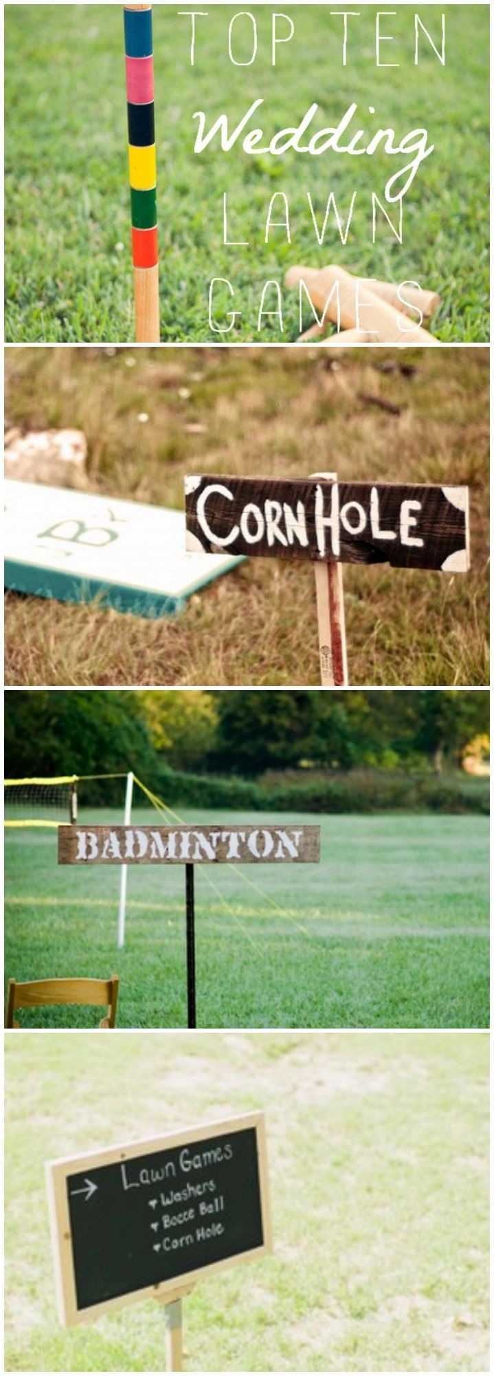 The Top 10 Wedding Lawn Games! These would even be great at any party as well! #lawngames #wedding