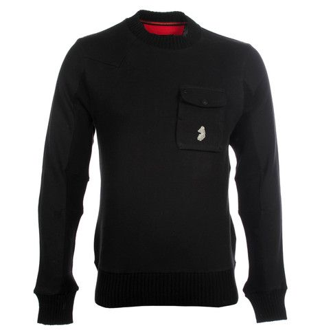 Luke 1977 The Wood Black Knitted Sweater