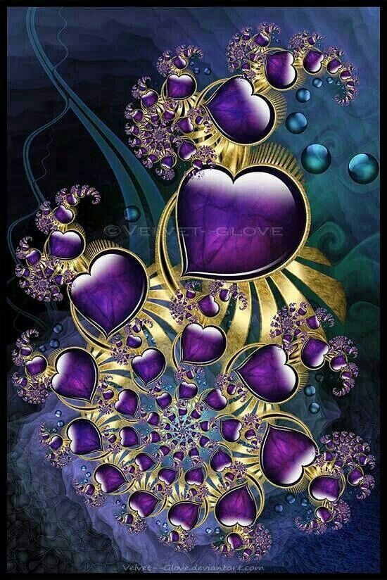 Royal purple hearts