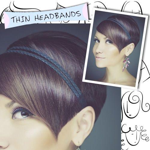 Thin headbands for short hair