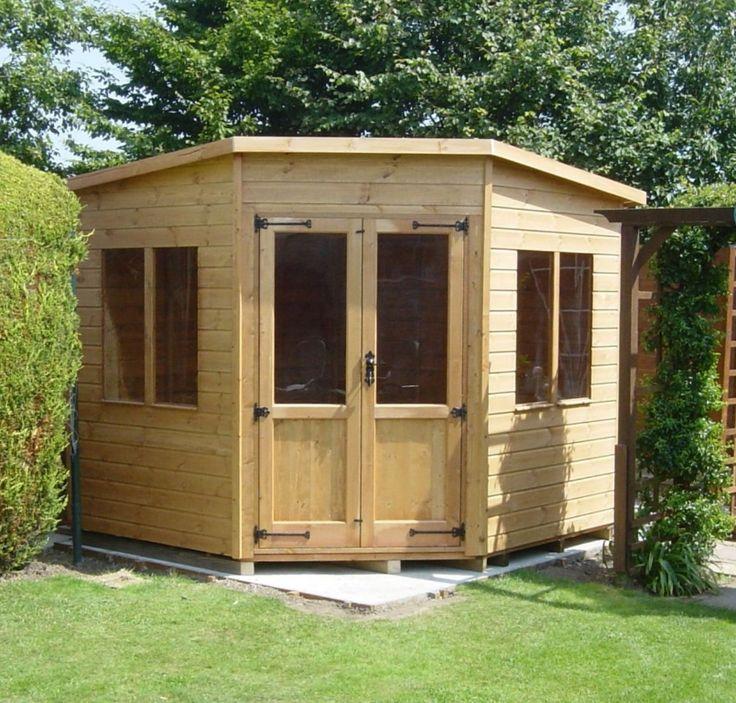 corner cabin shed 7 x 7 titan garden buildings specialists in sheds workshops summerhouses bespoke sheds and stock sheds - Corner Garden Sheds 8x8