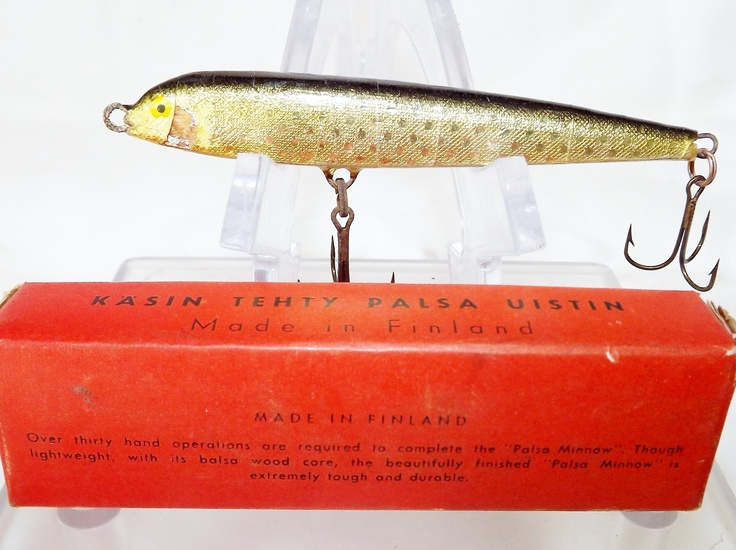 1960s Rapala knock-off Palsa Minnow.: Rapala Knock Off, Vintage Fishing, Fishing Tackle, Palsa Minnow, 1960S Rapala, Knock Off Palsa