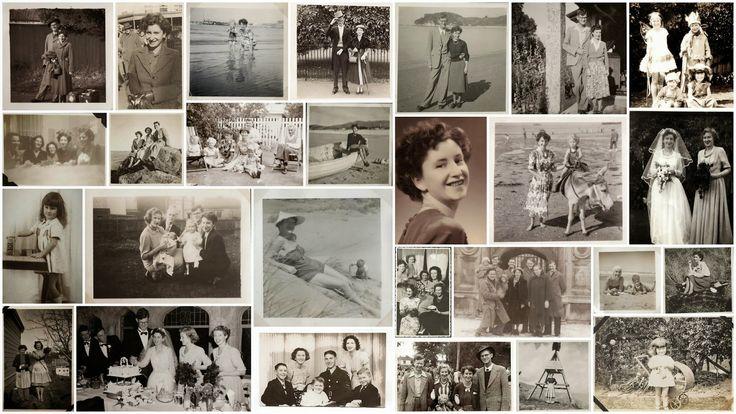 sepia family photo collage - Google Search