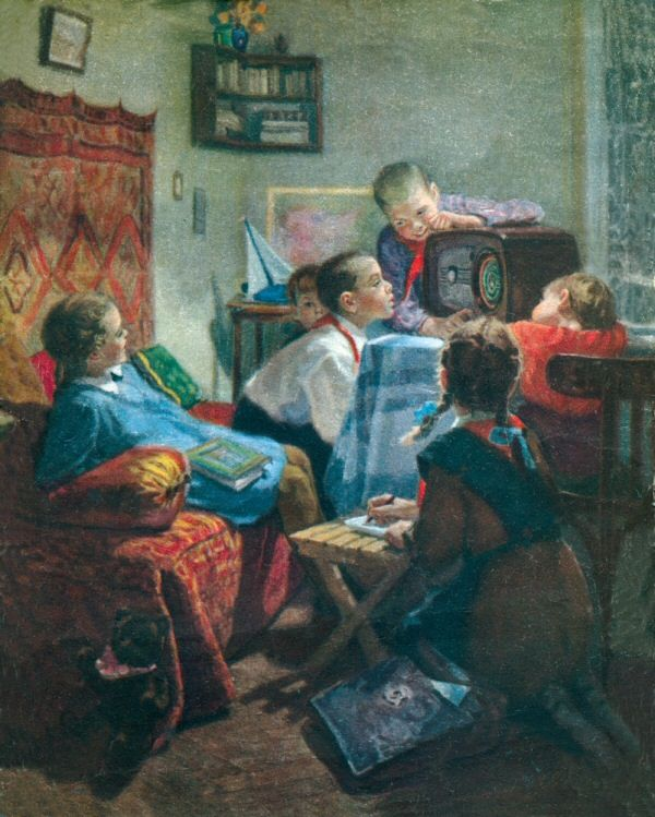 Скубко-Карпас Людмила Львовна. Интересная передача. 1952 г.