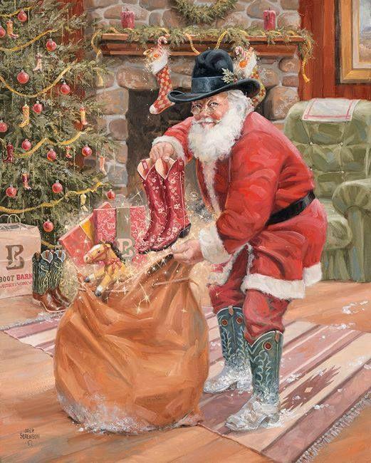 245 Best Cowboy Santas Images On Pinterest Papa Noel
